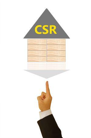 csr: Corporate social responsibility (CSR) concept