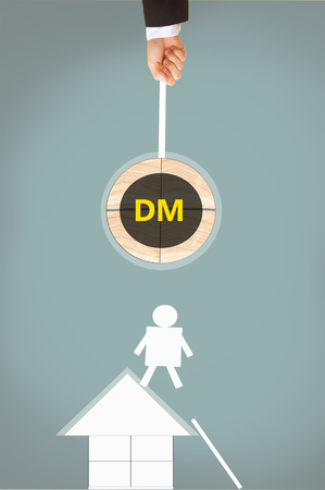 direct: Direct Message  or Mail or Digital Management Stock Photo