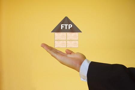 file transfer: File Transfer Protocol Stock Photo