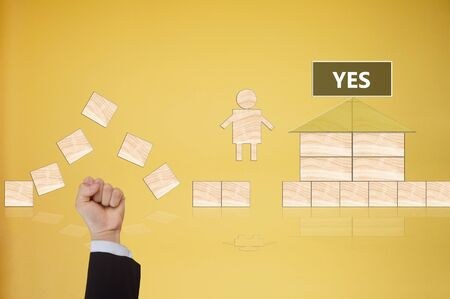 accept: YES, accept or ok  in business negotiation concept