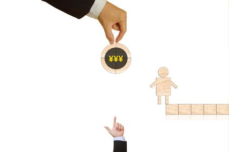 yen: symbol of japanese yen Stock Photo