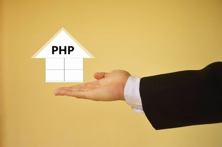 php: PHP Hypertext Preprocessor Stock Photo