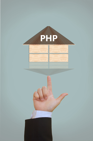 hypertext: PHP Hypertext Preprocessor Stock Photo
