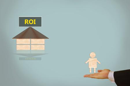 retour: Return on Investment Stockfoto