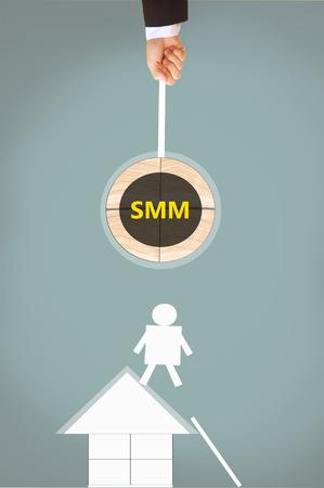 smm: Social Media Marketing(or Management) Stock Photo