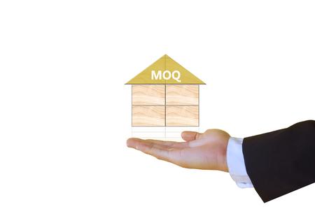 minimum: minimum order quantity Stock Photo