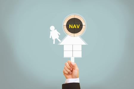 asset: Net asset value Stock Photo