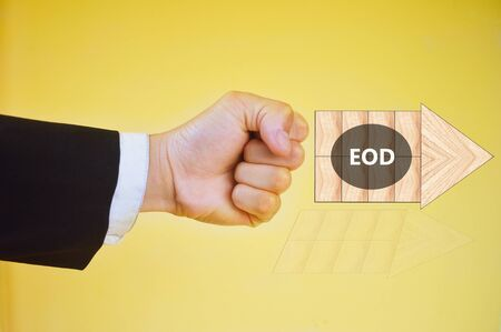 End Of Day or  End Of Discussion Stock Photo