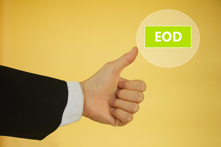 end of the day: End Of Day or  End Of Discussion Stock Photo