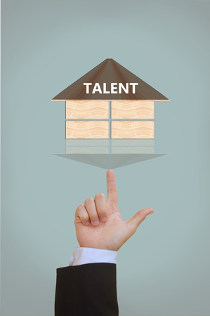 mentality: business concept of  talent Stock Photo