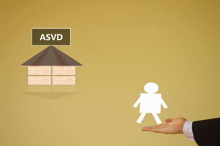 supported: advertisement supported video distribution Stock Photo