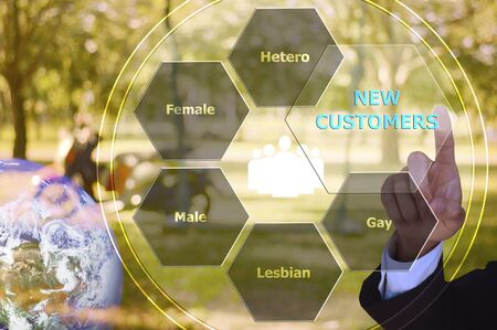 homosexual partners: pressing new customers with decorative detail, vintage tone