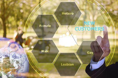 hetero: pressing new customers with decorative detail, vintage tone