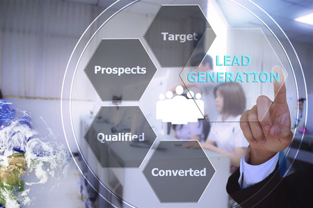 international sales: pressing lead generation with decorative detail , vintage tone , image element furnished by NASA Stock Photo