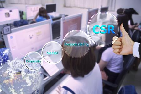 responsabilidad: presionando como la responsabilidad social corporativa (RSC) y el pequeño detalle, el tono del vitage, elemento de imagen proporcionada por la NASA