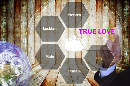 with true love: pressing true love with decorative detail, vintage tone , image element furnished by NASA