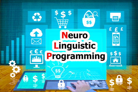 linguistic: technology and biz concept.select  icon Neuro Linguistic Programming on the virtual display