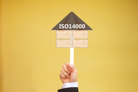 specifying: ISO14000 specifying for  Environmental management Stock Photo