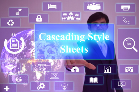css: CSS meaning of Cascading Style  Sheets - business concept, image element furnished by NASA
