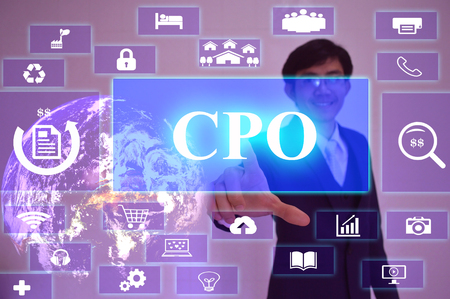 cpo: CPO meaning of Cost  Per Opportunity-business concept, image element furnished by NASA