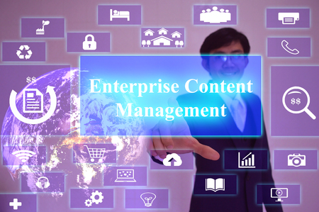 ems: EMS meaning of Enterprise Content Management - business concept,image element furnished by NASA Stock Photo