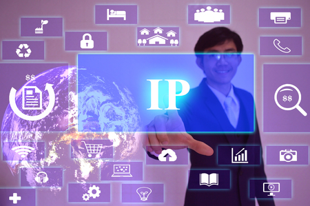 ip: IP or Internet  Protocol - business concept,image element furnished Stock Photo