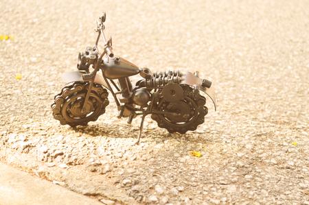 iron: iron motor bike on a road