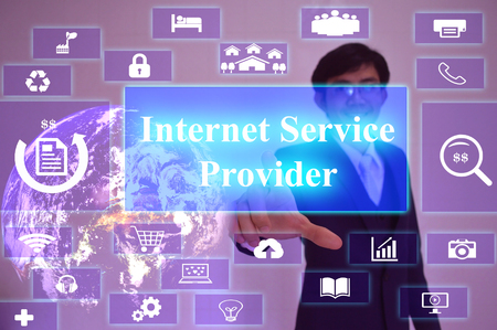 internet service provider: Internet Service Provider  - business concept Stock Photo