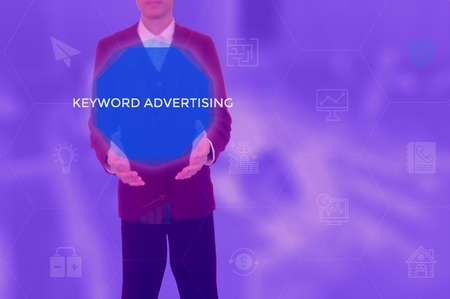 keyword advertising - content management concept