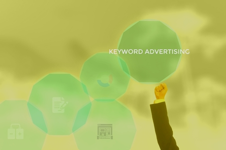 keyword advertising - content management concept