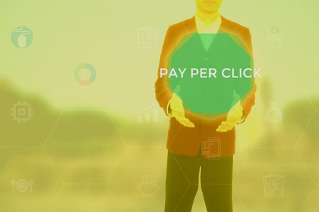 pay per click - make money online concept
