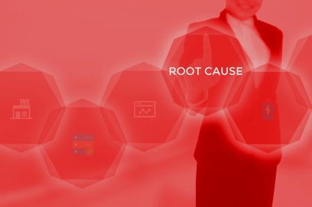 root cause analysis (RCA)-problem solving concept Standard-Bild - 115814617