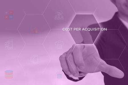 cost per acquisition concept Stock Photo