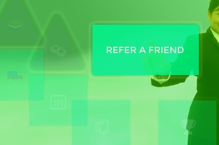 refer a friend -customer invitation concept