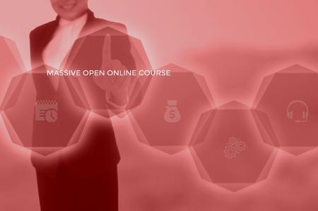 Massive Open Online Course (MOOC) concept Stok Fotoğraf