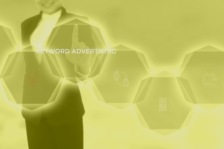 keyword advertising - content management concept Stock Photo - 115816124