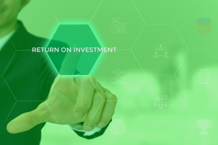 return on investment (ROI) concept Stock Photo