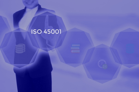 ISO 45001 based on occupational health and safety- business concept