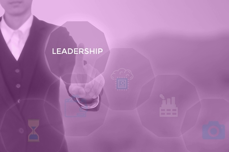 LEADERSHIP -business director concept 스톡 콘텐츠