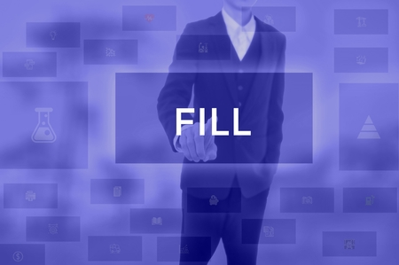 FILL - technology and business concept