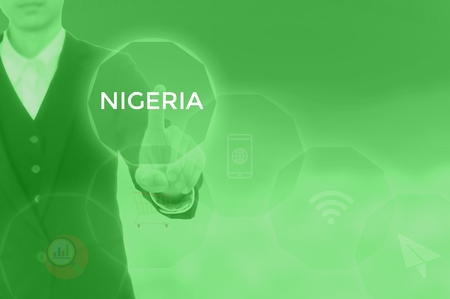 NIGERIA - technology and business concept Stock Photo