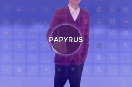 PAPYRUS - technology and business concept Banque d'images - 117551584