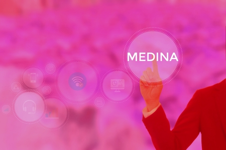 MEDINA - technology and business concept Stock Photo