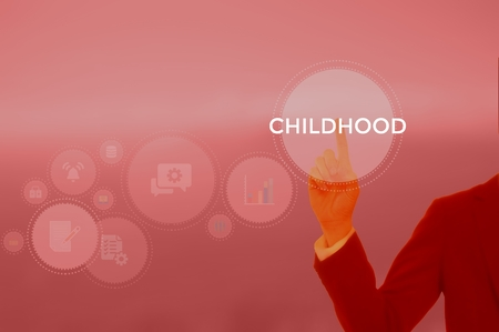 CHILDHOOD - technology and business concept Stock Photo