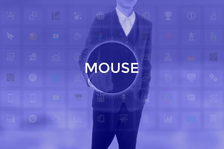 MOUSE - technology and business concept Standard-Bild - 117551995