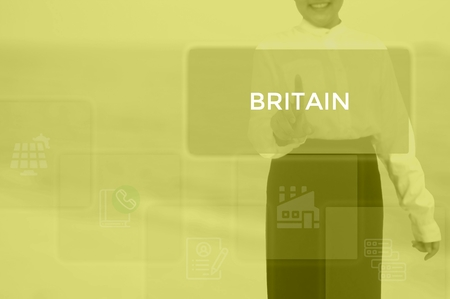 select BRITAIN - technology and business concept