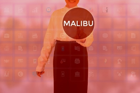 MALIBU - technology and business concept Stock Photo