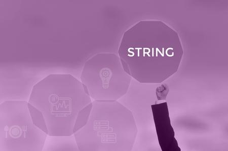 STRING - technology and business concept Zdjęcie Seryjne
