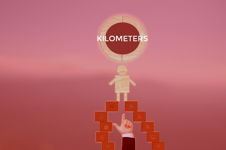 KILOMETERS - technology and business concept