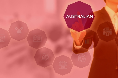 select AUSTRALIAN - technology and business concept